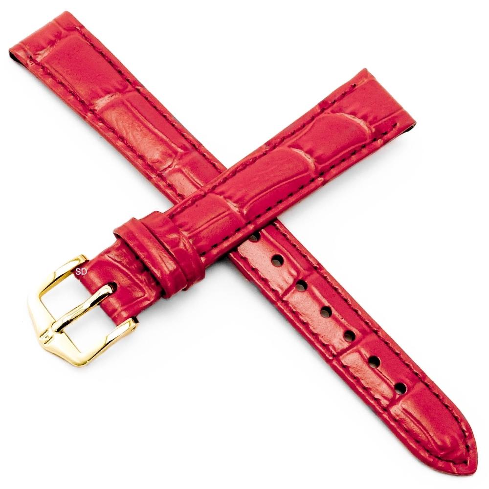 海奕施 HIRSCH Louisianalook M小牛皮錶帶紅