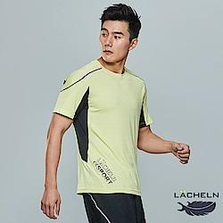 【LACHELN】運動拼接圓領衫-(L82MA05)