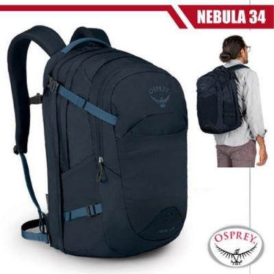 OSPREY 新款 Nebula 34L 超輕多功能城市休閒筆電背包_海妖藍 R