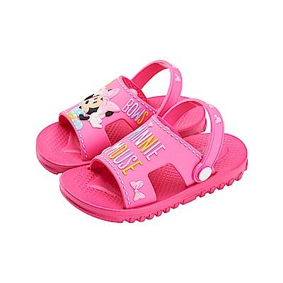 迪士尼童鞋 米妮 兩穿式防水涼鞋-桃