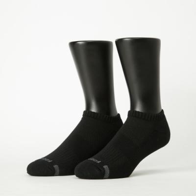 Footer除臭襪-單色運動逆氣流氣墊船短襪加大款-六雙入(黑*2+藍*2+深灰*2)