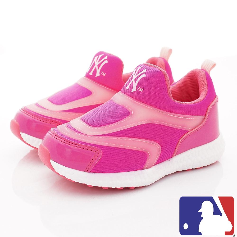 洋基MLB童鞋 超輕休閒運動款 NI73023桃(中小童段)