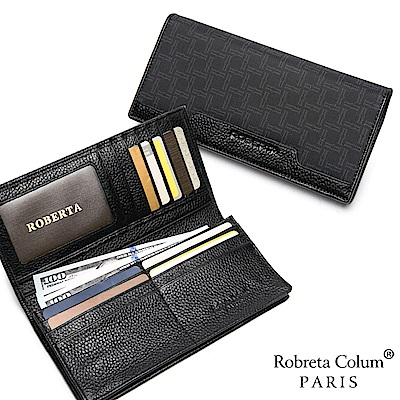 Roberta Colum - 尊爵格調頭層牛皮12卡1照上下翻長夾