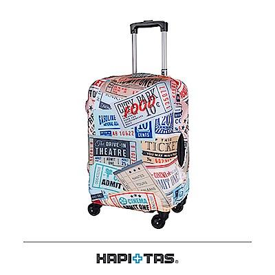 日本HAPI+TAS 行李箱保護套 S-18~22吋 復古票卡