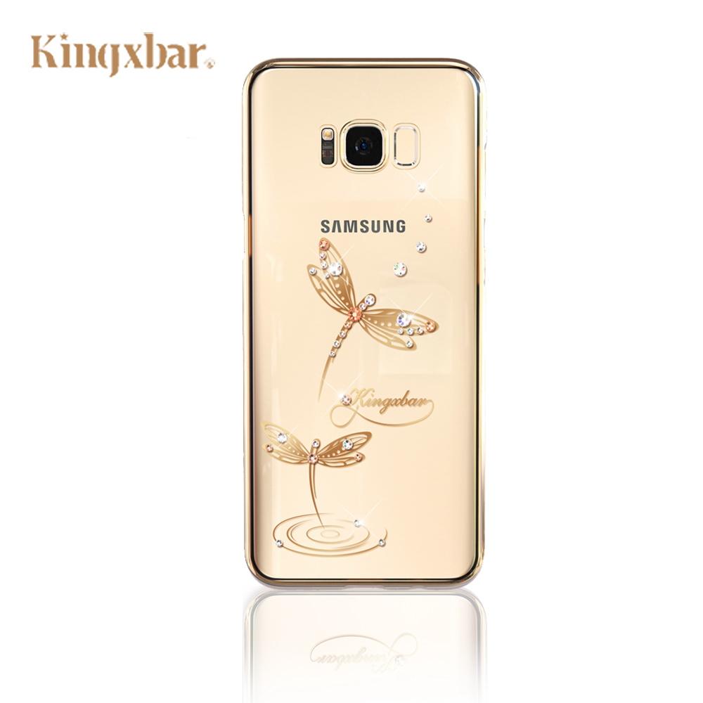 Kingxbar Samsung S8  施華洛世奇彩鑽 保護殼-玉蜻蜓