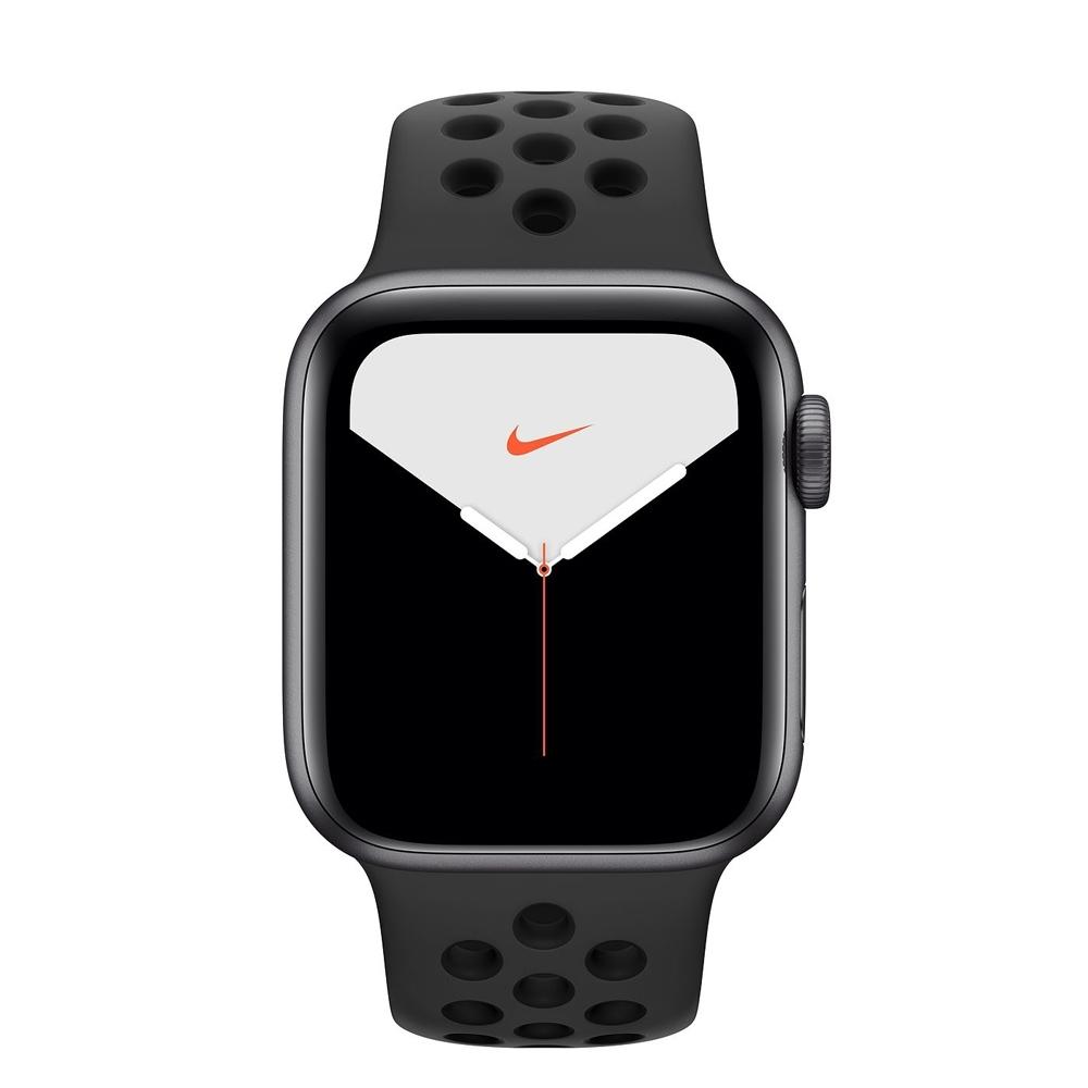 Apple Watch S5 Nike GPS版 44mm太空灰鋁錶殼黑色運動錶帶MX3W