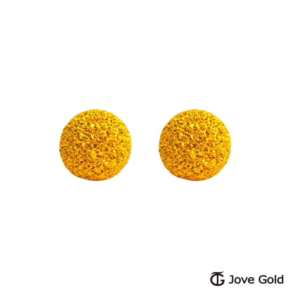 Jove gold 呢喃黃金耳環-大