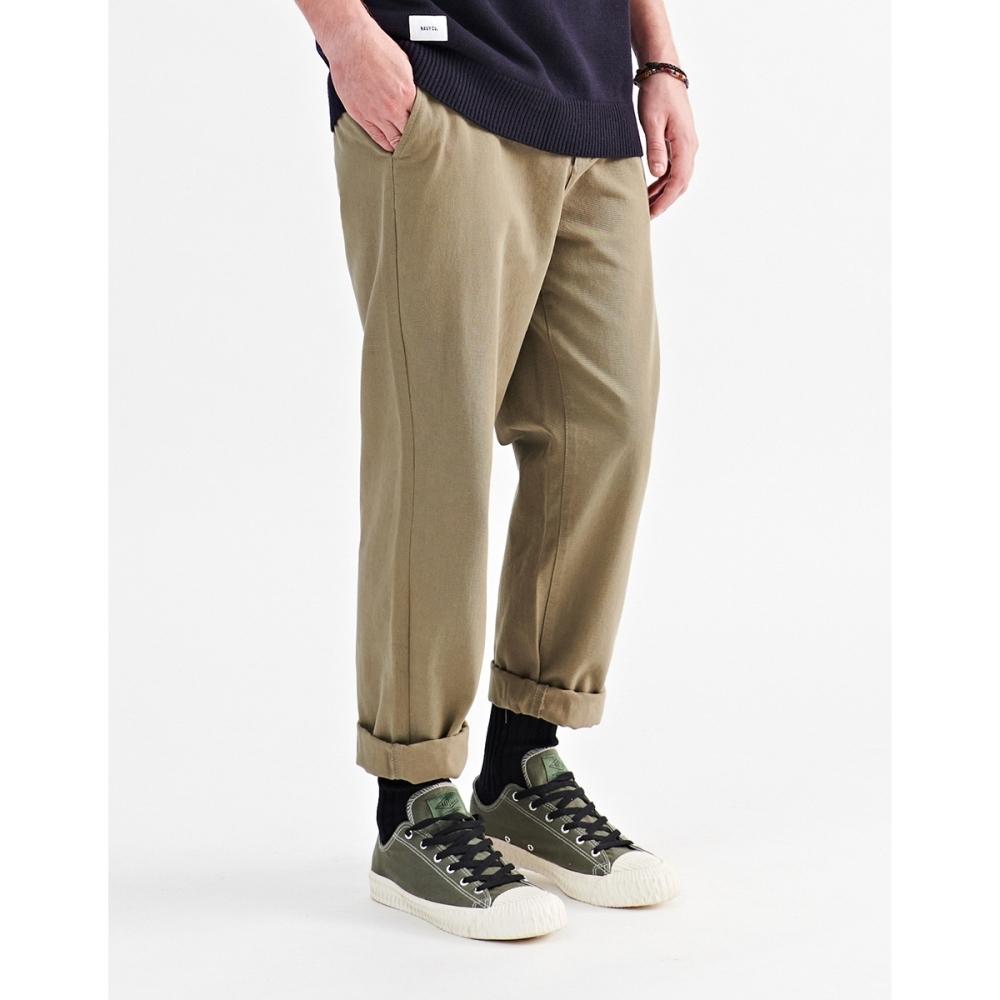 NAVY-休閒素色直筒褲(二色)-男【A1NA085】