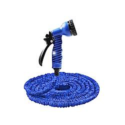 威力鯨車神 第六代神奇彈力伸縮水管15公尺_附鍊條固定頭_藍色