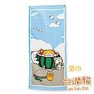 白爛貓Lan Lan Cat 臭跩貓滿版印花童巾(西瓜-夏日沙灘)