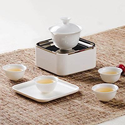 【LOTUS】BYKE 旅行茶具組 茶壺 茶杯組 NA1000(戶外 露營 泡茶首選)