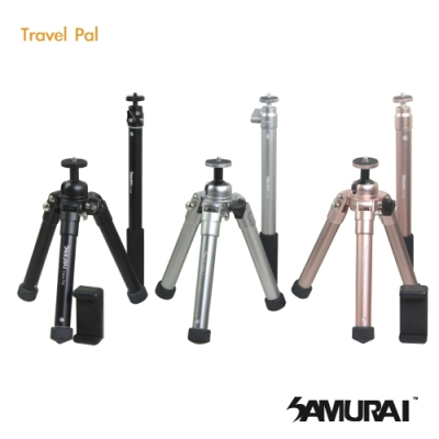 SAMURAI Travel Pal 旅遊型腳架(附自拍棒)