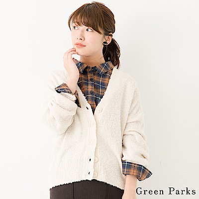 Green Parks 磨毛寬鬆舒適罩衫/外套