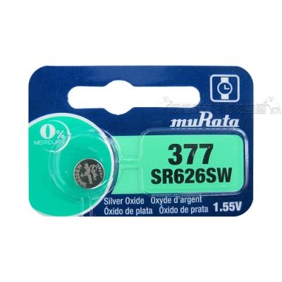 muRata村田(原SONY) 鈕扣型 氧化銀電池 SR626SW/377 (5顆入)