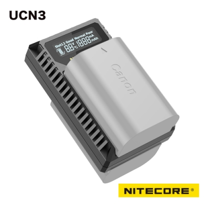 Nitecore UCN3 液晶顯示充電器 CANON LP-E6N