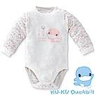 KU.KU酷咕鴨-竹纖有機棉連身裝-03/06/1A(藍/粉)-2767