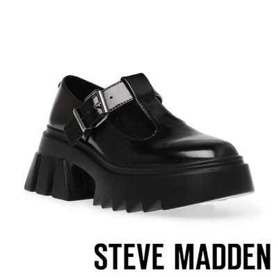 STEVE MADDEN-HAIZE 英倫風厚底樂福鞋-黑色