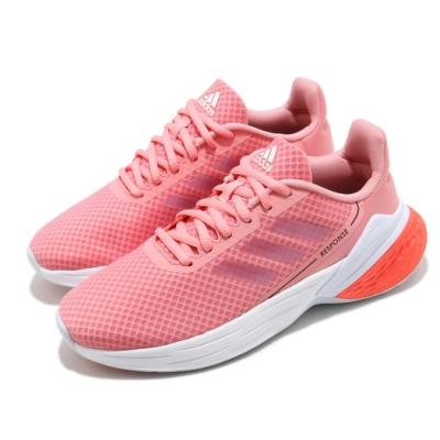 adidas 慢跑鞋 Response SR 運動休閒 女鞋 愛迪達 路跑 緩震 輕量 透氣 穿搭 粉 白 FY9158