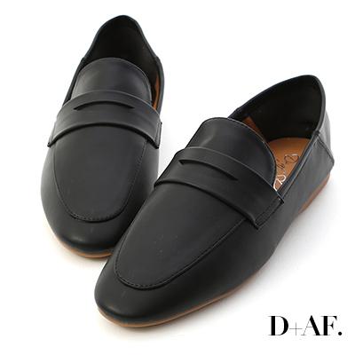 D+AF 日常印象.經典款可後踩樂福鞋*黑