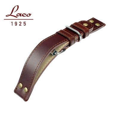 Laco 朗坤 402121錶帶 (深棕) XL 22mm