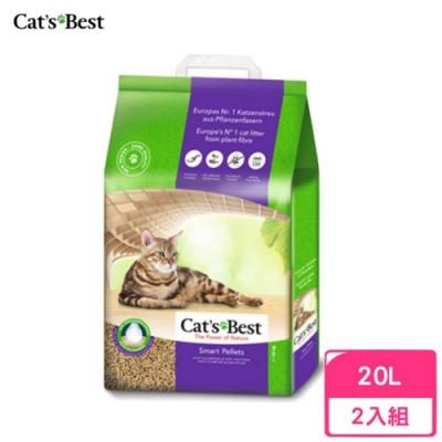 德國凱優Cat′s Best-特級無塵凝結木屑砂(紫標凝結型) 20L/10kg 兩包組