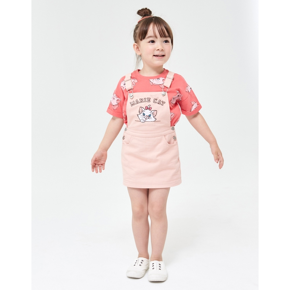 CACO-瑪麗貓刺繡吊帶裙-親子款-童【YDI012】