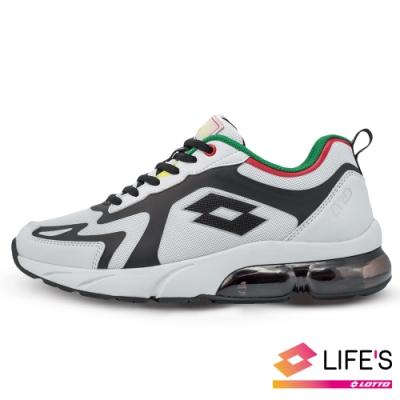 LOTTO 義大利 男 LT20 氣墊跑鞋(白/黑)