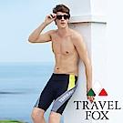夏之戀TRAVEL FOX  大男剪接七分泳褲