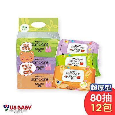 優生 超厚型柔潤濕巾(80抽12包)
