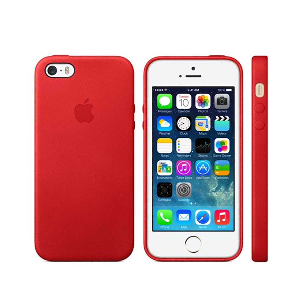 Apple適用 iPhone SE/5/5S共用 皮革保護套(盒裝)