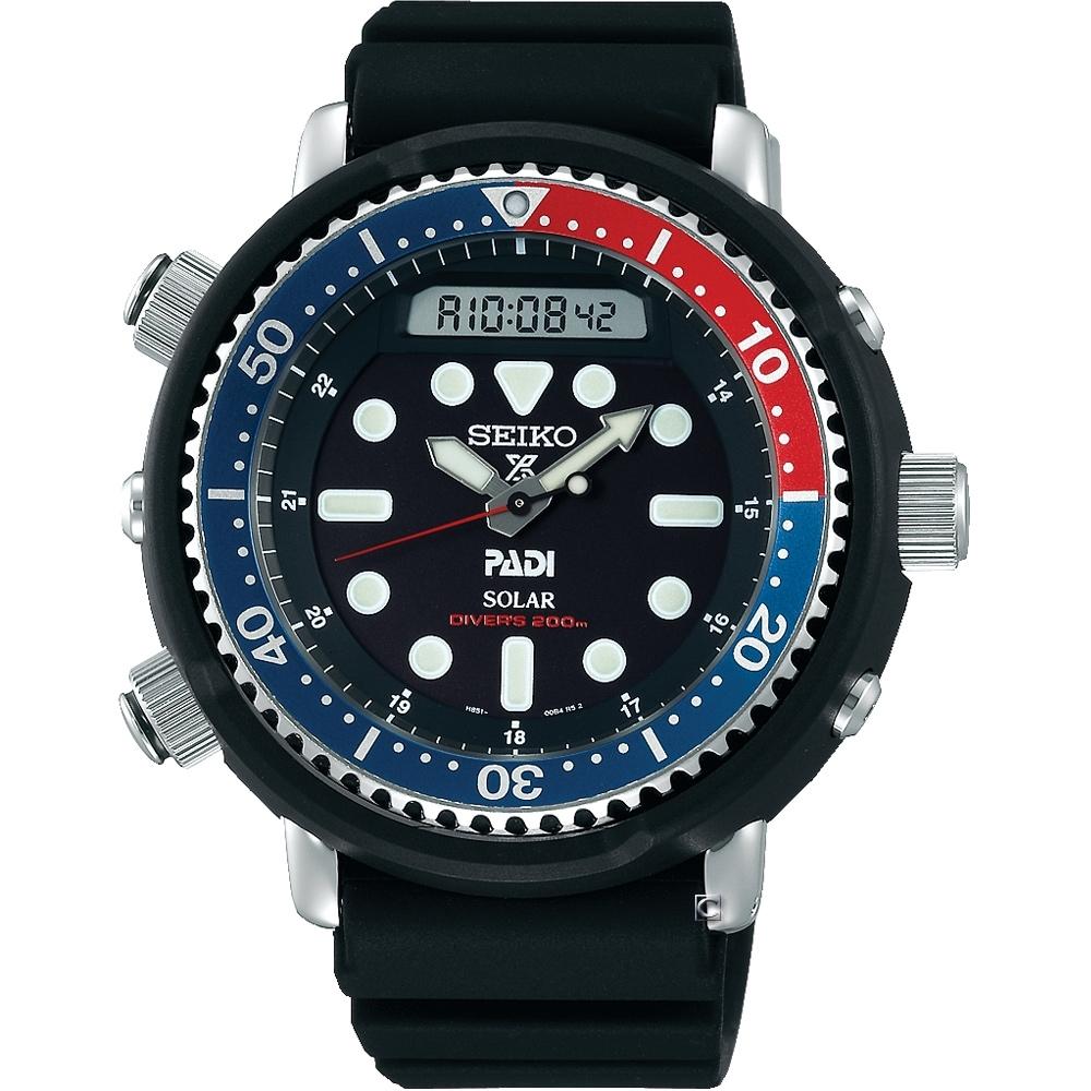 SEIKO ProspexPADI雙顯潛水太陽能腕錶(SNJ027P1)/47.5mm