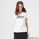 GIORDANO 女裝UNION JACK系列短袖T恤-13 標誌白