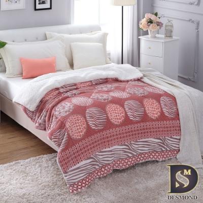 岱思夢 3D立體雕花狐雕絨暖毯被 韓風普普 (羊羔絨/法蘭絨/暖暖被)