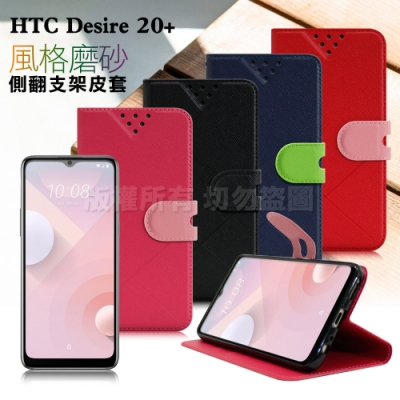 NISDA for HTC Desire 20+  風格磨砂支架皮套