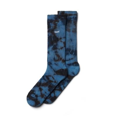 Nozzle Quiz 後研 Layers Neverland Lite Tie Dye 手工渲染 鬆身輪廓 青綁 休閒長筒襪 泡泡單一尺寸 23cm-29cm AFLYSX02BN