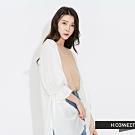 H:CONNECT 韓國品牌 女裝-純色飄逸民族風罩衫-白