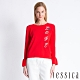 JESSICA - LOVE字樣造型袖口設計上衣(紅) product thumbnail 1