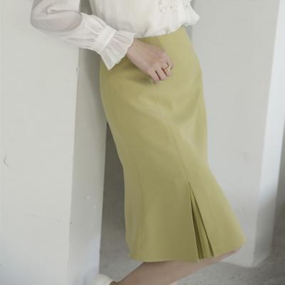 設計所在Lady-開叉魚尾裙高腰百褶中長版包臀(三色M-2XL可選)
