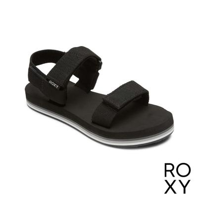 【ROXY】ROXY CAGE 可調式涼鞋 黑色