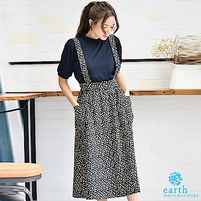 earth music 廣瀨鈴著用款-2WAY復古花卉打印吊帶裙