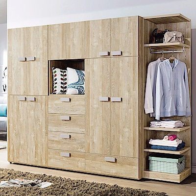AS-娜恩8.5尺系統式衣櫥-257x59x202cm