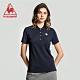 法國公雞牌短袖POLO衫 LWJ2314339-女-藏青 product thumbnail 1