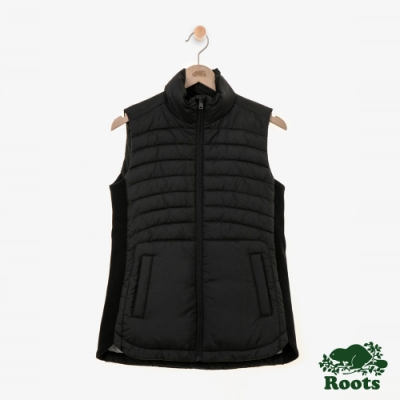 女裝Roots Journey 複合材質背心-黑色