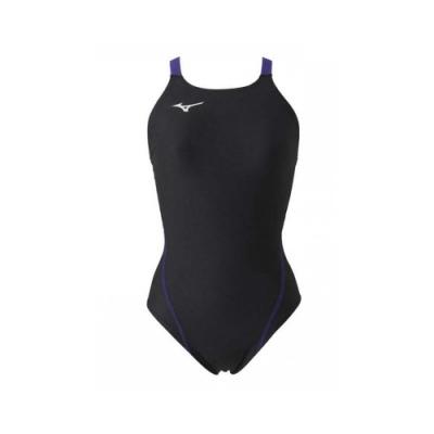 MIZUNO SWIM 女連身泳衣-泳裝 游泳 海邊 競賽 美津濃 N2MA826198 黑紫銀