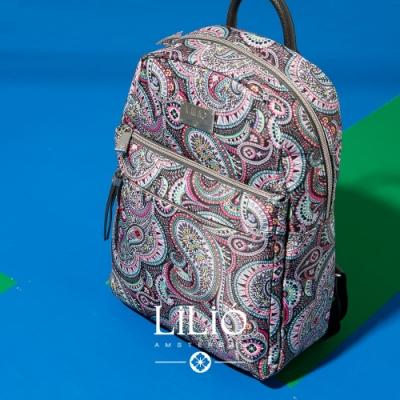 【LILIO】鐵灰_拉鏈式手提/雙肩後背包_簡約生活_PAISLEY  PARK