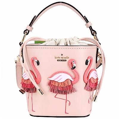 Kate Spade Flamingo Pippa 紅鶴造型束口兩用水桶包(粉色)