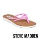 STEVE MADDEN-ALLOW 簡約亮彩扭結T字平底拖鞋-霓粉 product thumbnail 1