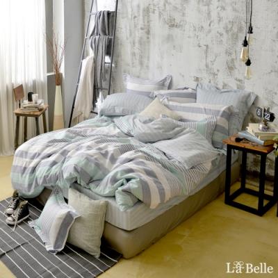 義大利La Belle 居家生活 單人純棉防蹣抗菌吸濕排汗兩用被床包組