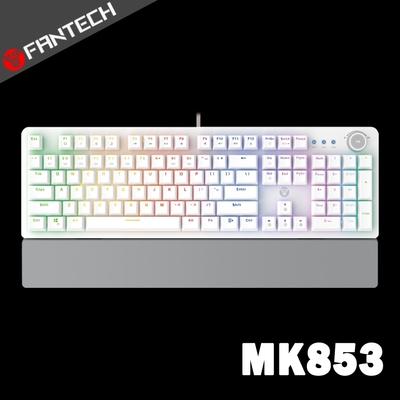 FANTECH MK853 RGB多媒體機械式電競鍵盤(英文版)-白