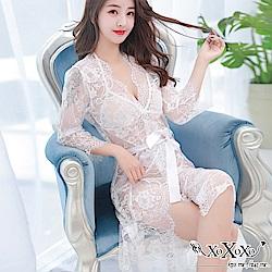 罩衫 絢麗幻想三件式睡衣組 純潔白 XOXOXO
